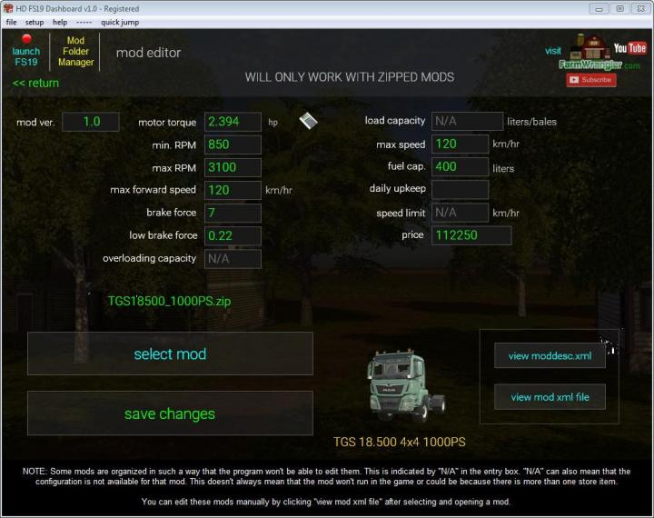 FS19 - Dashboard V3.4