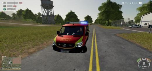 Photo of FS19 – Fire Brigade Ellerbach Sprinter V1.2