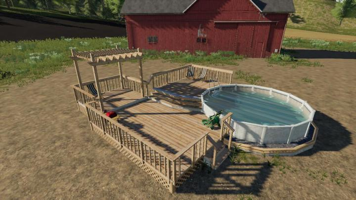 FS19 - Garden Decking And Pool V1