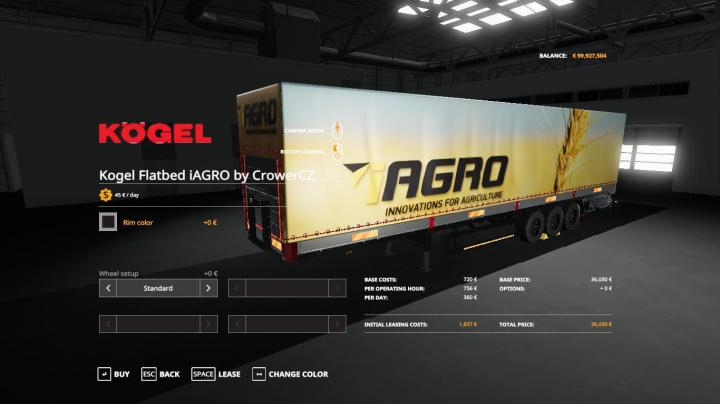FS19 - Iagro Kogel Autoloader Trailer V1