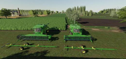 Photo of FS19 – John Deere Cutter Trailer Pack V1