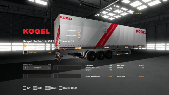FS19 - Kogel Original Trailer Autoloader V1