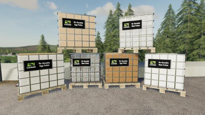 FS19 - Lizard Re-Useable Pallets V1