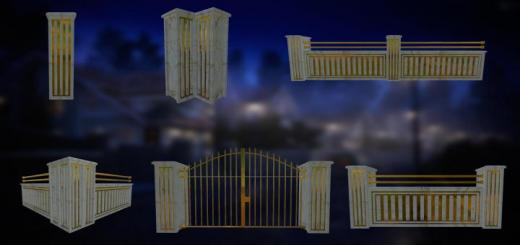 Photo of FS19 – Luxury Fence Pack V1