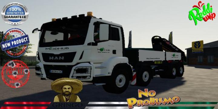 FS19 - Man 8X4 Hiab -Truck V2