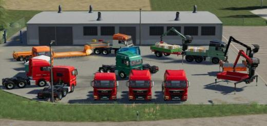 Photo of FS19 – Man Tgx Semi-Truck Pack V1