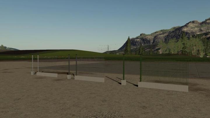 FS19 - Metal Panel Fences V1