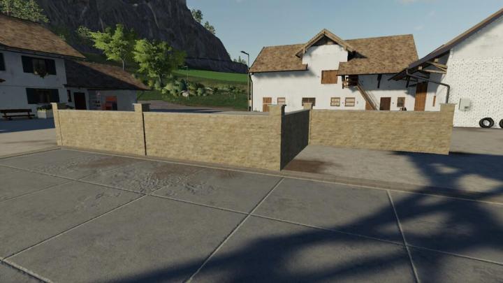 FS19 - Old Brick Wall V1