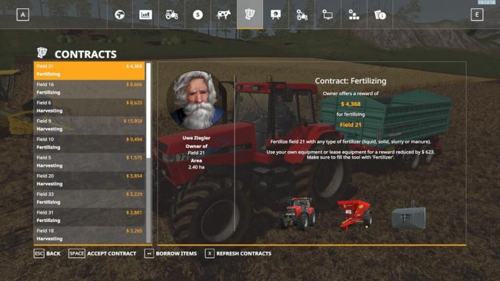 FS19 - Refresh Contracts V1.0.0.1