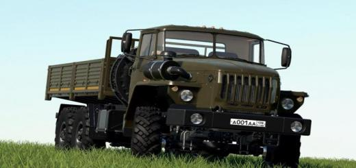 Photo of FS19 – Ural 4320/4320-60 Flatbed V1