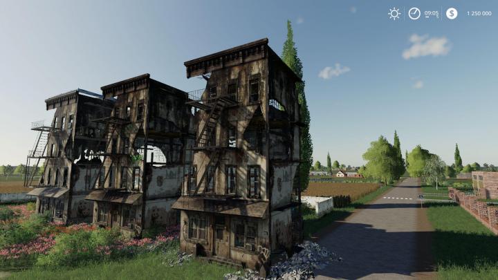 FS19 - Building Ruins (Prefab Ge) V1