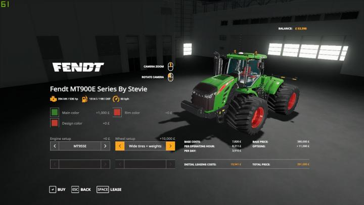 FS19 - Challenger/Fendt Mte900 Series V1.0.0.5