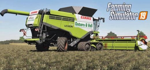Photo of FS19 – Claas Lexion Osters & Voss Edition V1