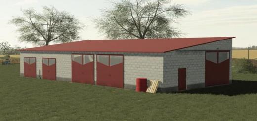 Photo of FS19 – Concrete Block Garage V1