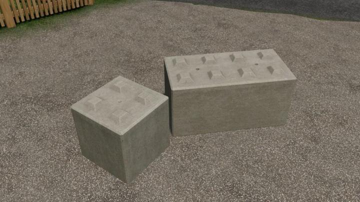 FS19 - Concrete Stone Blocks Stackable (Prefab) V1