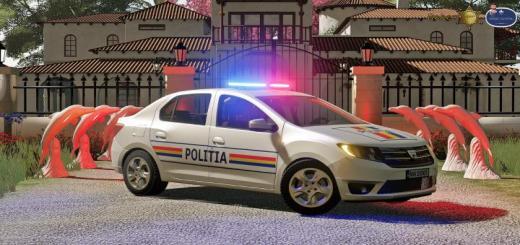 Photo of FS19 – Dacia Logan Politia 2019 V1