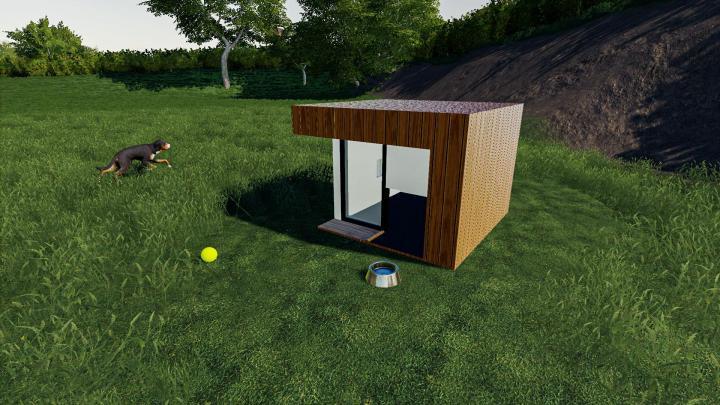 FS19 - Deluxe Dog House V1