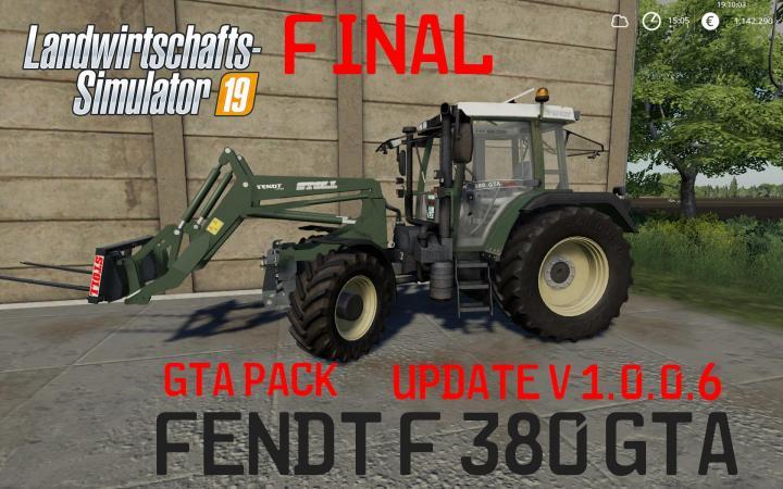 FS19 - Fendt F 380Gta V1.0.0.6