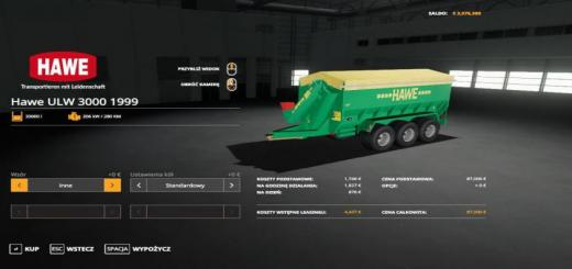 Photo of FS19 – Hawe Ulw 3000 1999 Trailer V1