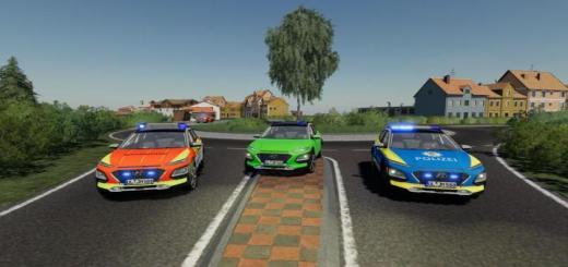 Photo of FS19 – Hyundai Kona Police And Ambulance V1