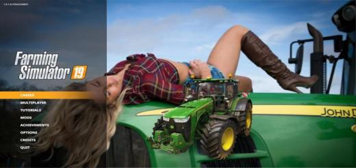 Photo of FS19 – John Deere Super Girl Edition Menu Background V1