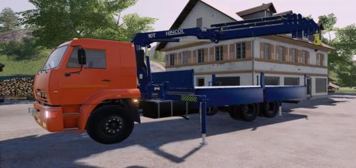 Photo of FS19 – Kamaz 65117 Picker Crane V1.0.1.0
