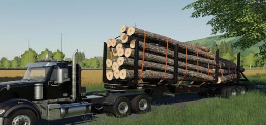 Photo of FS19 – Manac 45Ft Log Trailer V1