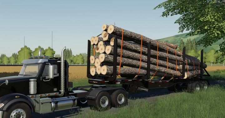FS19 - Manac 45Ft Log Trailer V1