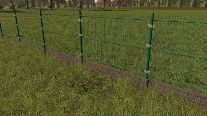 FS19 - Panel Fence And Gate V1