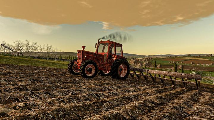 FS19 - Rusty Tractor With Old Plow V1