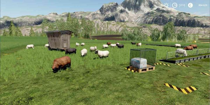 FS19 - Sheep Pasture Without Fence V1