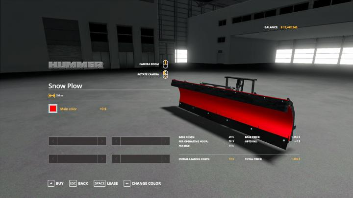 FS19 - Snow Plow V1