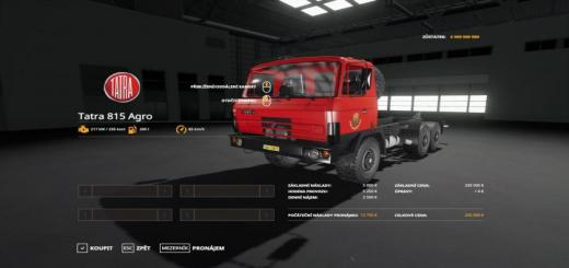 Photo of FS19 – Tatra 815 Agro Oficialni Jzd Straznice V1