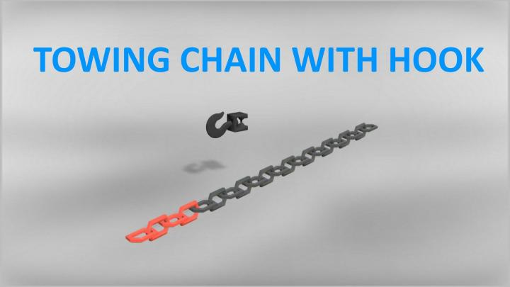 FS19 - Towing Chain With Hook V1
