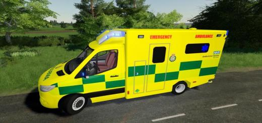 Photo of FS19 – Uk Real Ambulance Reskin V1