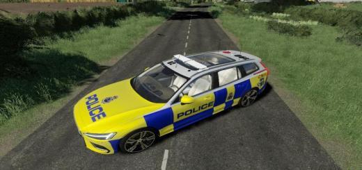 Photo of FS19 – Volvo V60 Uk Police V1