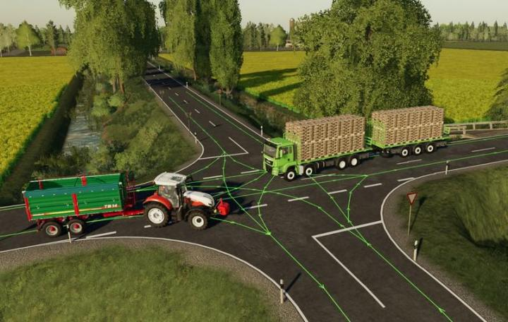 FS19 - Autodrive Route Network North Frisian March With Trenches V2.9