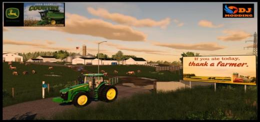 Photo of FS19 – Deere Country Usa Map V1