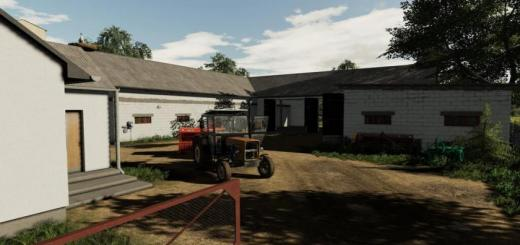 Photo of FS19 – Farm Building With Cows V1