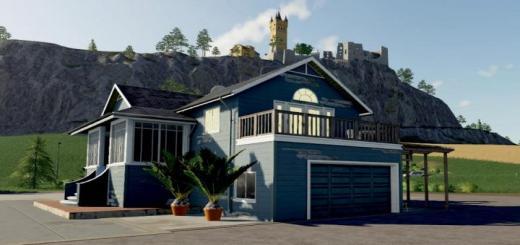 Photo of FS19 – Farm House Big Blue Us V1