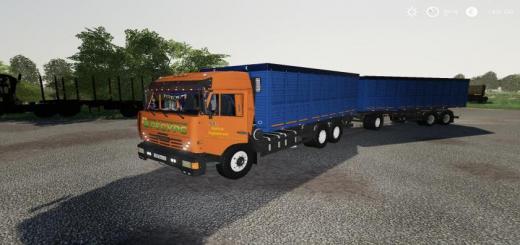 Photo of FS19 – Kamaz Grain Truck And Trailer V1.1