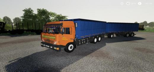 Photo of FS19 – Kamaz Grain Truck And Trailer V1