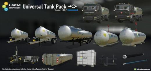 Photo of FS19 – Lsfm Universal Tank Pack V1.2