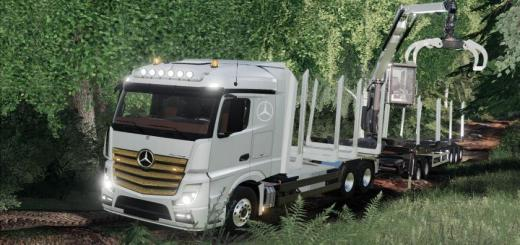 Photo of FS19 – Mercedes-Benz Actros Forstaufbau V1