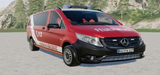 Photo of FS19 – Mercedes-Benz Vito Kastenwagen (W447) Feuerwehr V2