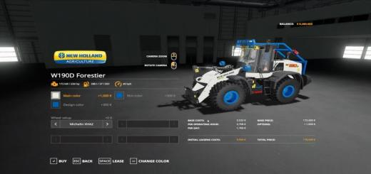 Photo of FS19 – New Holland W-190 Forestier V2