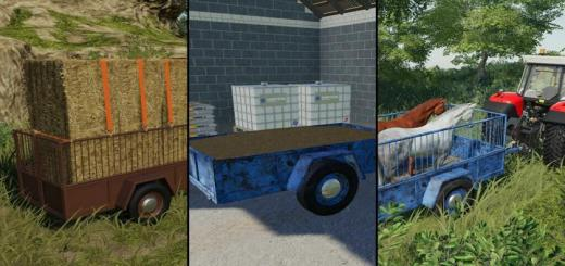 Photo of FS19 – One Axle Trailer V2