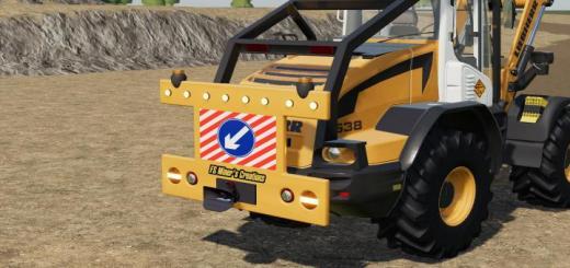 Photo of FS19 – Rear Warning Sign For Wheel Loaders V1