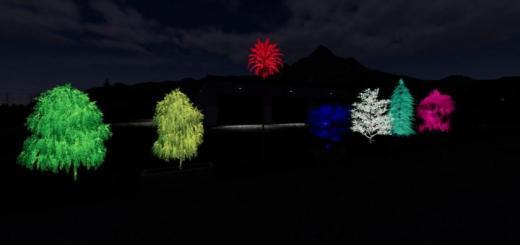 Photo of FS19 – Rgb Lighted Tree Planter Box Pack V1