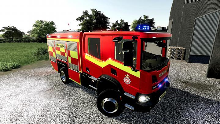 FS19 - Scania Uk Fire Engine V1